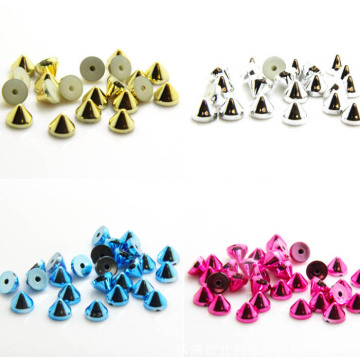 Shiny Cone Studs with Nail for Clothing